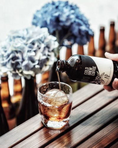 Coldbrew Coffee - Drink Coffee Coffeeshop Drink Refreshment Food And Drink Table Glass Focus On Foreground Freshness Alcohol Cold Temperature Glass - Material Close-up Still Life Indoors