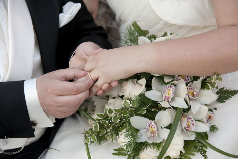 Cropped image of woman holding hands