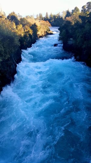 Huka Falls in Taupo, NZ Water Nature Beauty In Nature Outdoors Huka Falls, NZ New Zealand