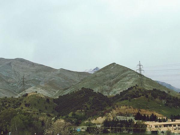 Tehran Iran Mountains Mountain View Streets Of Tehran