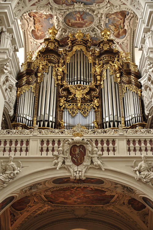 Architecture Baroque Style Built Structure Close-up Day Dom St. Stephan History Indoors  Low Angle View Music Musical Instrument No People Ornate Place Of Worship Religion Spirituality