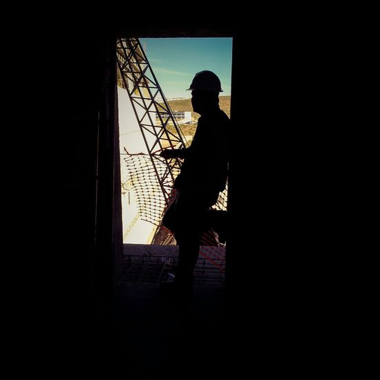 WORK DAY Treinta_cero_tres Photographer Dark Silhouette Window Men Built Structure Color Portrait Mexico Mexican