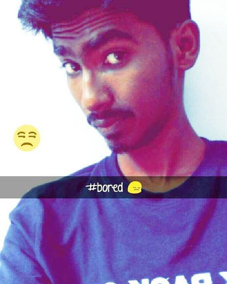 Snapchat Bored Selfie Roundneck