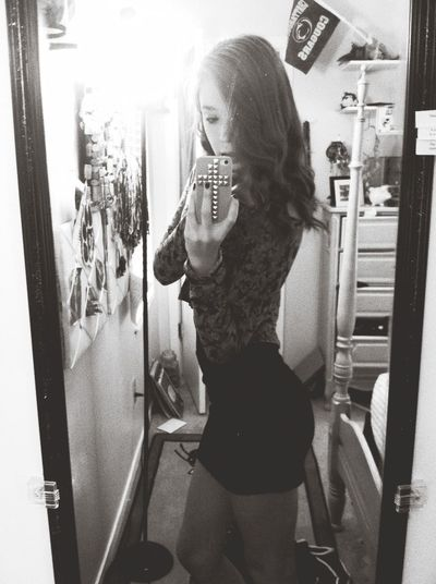 Girl Mirror Bored :*