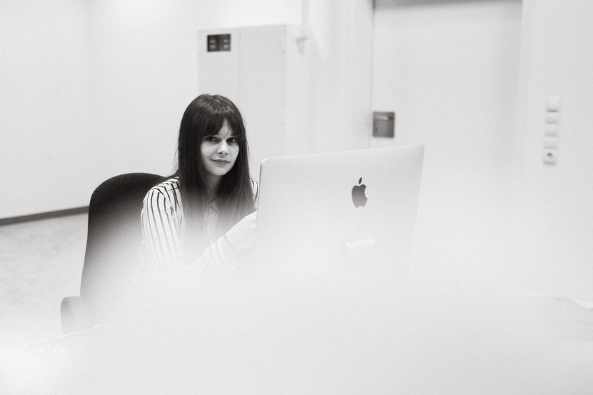 Making secret images in my office. Blackandwhite Close-up Day Domestic Room First Job Fujifilm X-pro 2 Fujifilm X-pro2 Job Life No People Office Portrait Smile White Working Youth