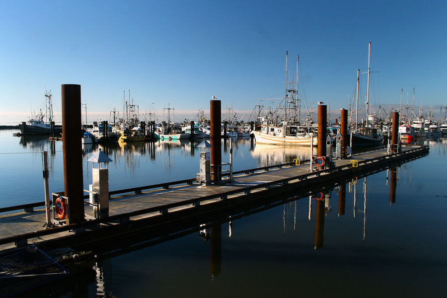 Steveston habour in Richmond B.C. Canada. Reflection Water No People Nautical Vessel Outdoors Sea Sky Harbor City Richmond Canada B.C