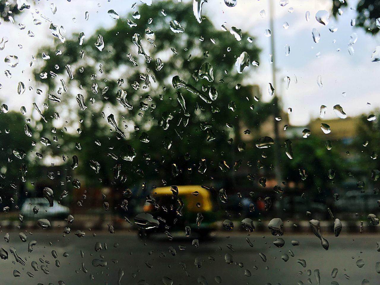 wet, drop, glass - material, rain, mode of transportation, water, window, transparent, land vehicle, transportation, car, motor vehicle, raindrop, no people, rainy season, nature, vehicle interior, day, outdoors, glass