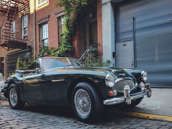 1967 Austin-Healey 3000 Transportation Mode Of Transport Land Vehicle Architecture Built Structure Building Exterior Parking Car Stationary Parked House Residential Structure Street City In Front Of Day Outdoors No People Outside Residential District NYC Classic Car Austin Healey