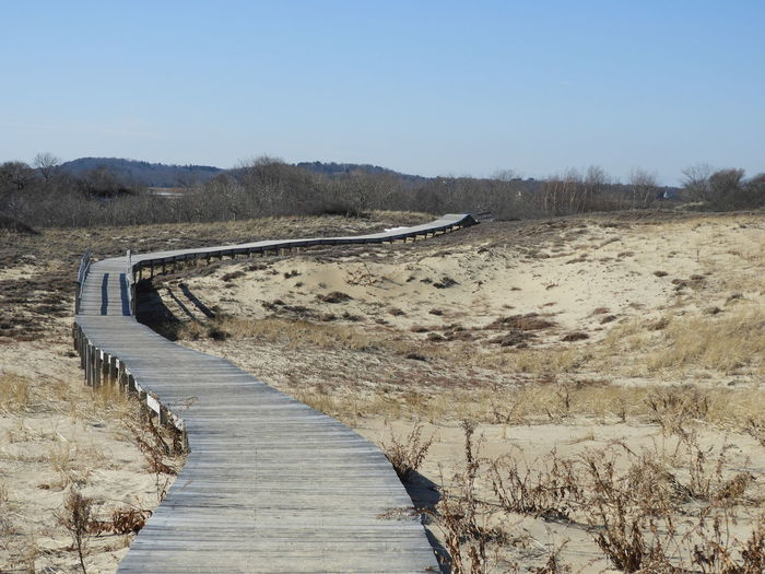 Boardwalk Through Sand Dunes Boardwalk Photography Sand Dunes Horizon Over Sandunes Plum Island, Newburyport, Wooden Boardwalk Sand Sky Sand Dune