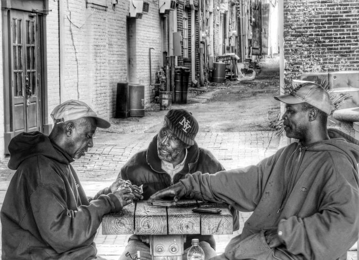 The Players Club JustGPhotos Taking Photos EyeEm Best Shots Spare Of The Moment Shot Streetphotography Playing Cards Capture The Moment The Human Condition Cap Wilmington The Port City Black And White The Essence Of Summer- 2016 EyeEm Awards The Portraitist - 2016 EyeEm Awards The Street Photographer - 2016 EyeEm Awards Street Photography Leisure Activity