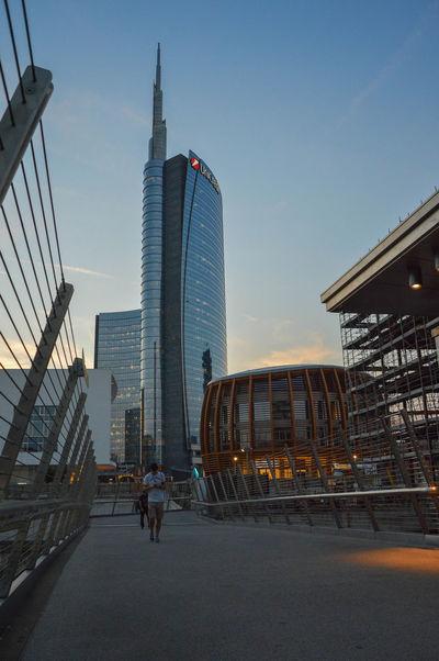 Torre Unicredit Milano, Italy Architecture Cesar Pelli Development Milano Office Building Porta Garibaldi Porta Nuova Sky Skyscraper Tall - High Torre Unicredit Tower Tower Bridge  Unicorn Urban Skyline