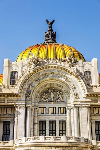 Palacio de bellas artes against clear blue sky