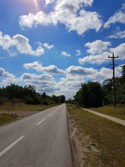 Cloud - Sky Sky Road Tree No People Day Outdoors Nature samsung galaxy s8 Samsungphotography S8 S8 Collection