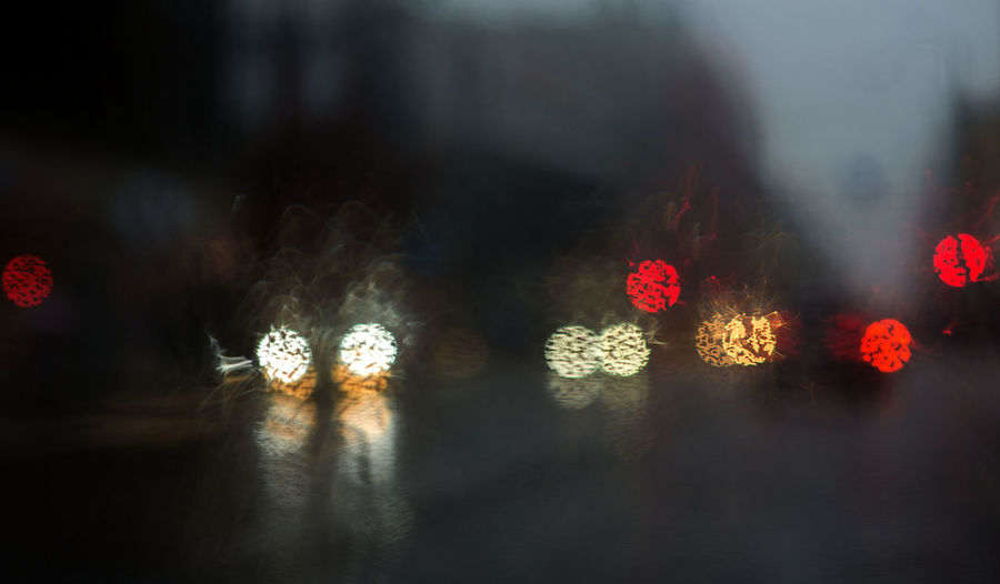 Abstract Backgrounds Bus Car City Life City Street Colorful Light And Shadow Rain Rain Drops Rainy Days Street Photography EyeEmNewHere The City Light Welcome To Black
