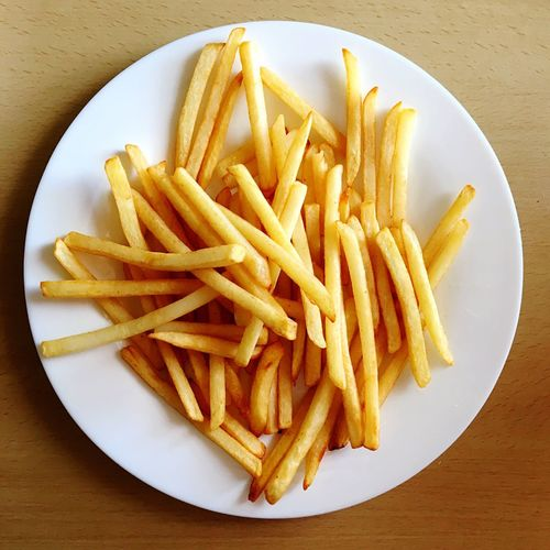 French Fries Plate Food Ready-to-eat Table Unhealthy Eating