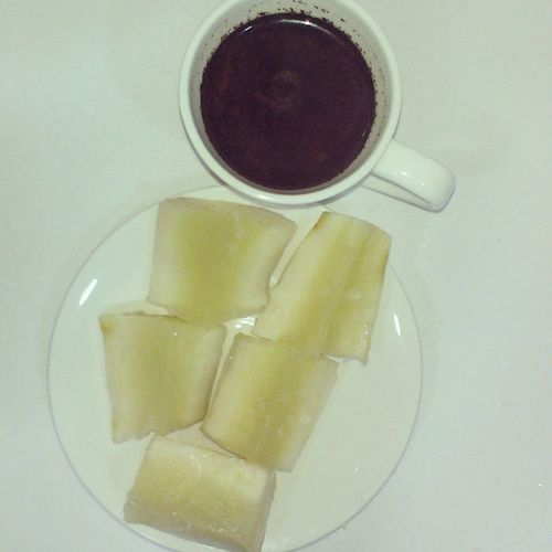 Beautiful morning with coffee n cassava Breakfast Coffe_addict Morning HongKong hkig