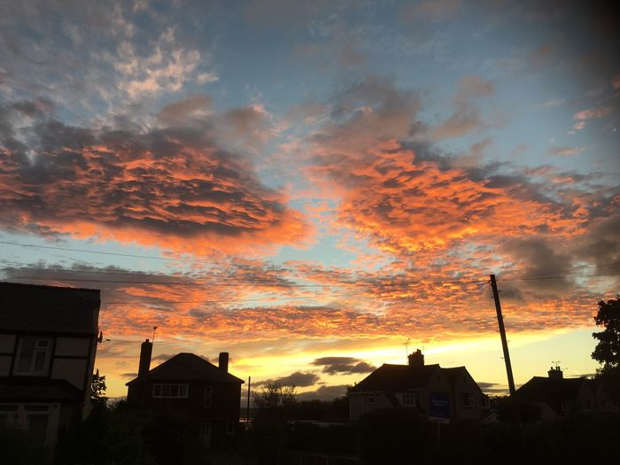 A brief moment whilst walking to work, moments later it was gone forever Sunrise urban Sky Cloud - Sky Orange Color Outdoors Beauty In Nature Majestic Dramatic Sky Atmospheric Mood