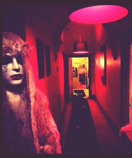 Halloween party Hallway Red Lights Party Corpse Bride  Scary 2014 Party Foggy Check This Out