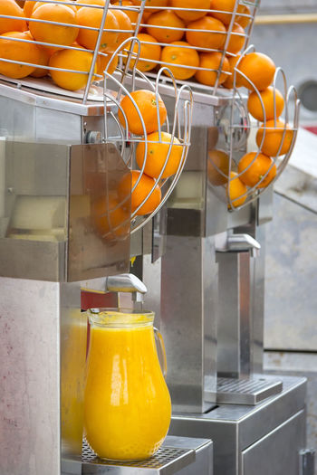 Oranges In Juicer