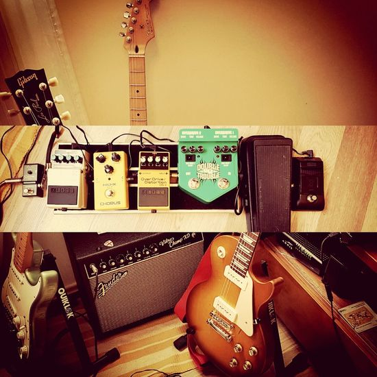 Guitar Pedals Guitar Love Guitar Player Mysetup Fender StratocasterIndoors  Gibson Les Paul Rockstar Music Rock'n'Roll Blues Jam Fenderstratocaster