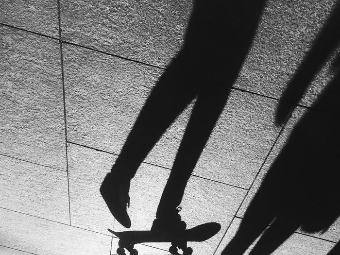 Shadow play Shadow Sunlight Real People One Person Human Body Part High Angle View Low Section Outdoors