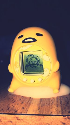 Gudetama Tamagotchi Tamagotchi Gudetama No People Indoors  Close-up Yellow Technology Single Object Electricity