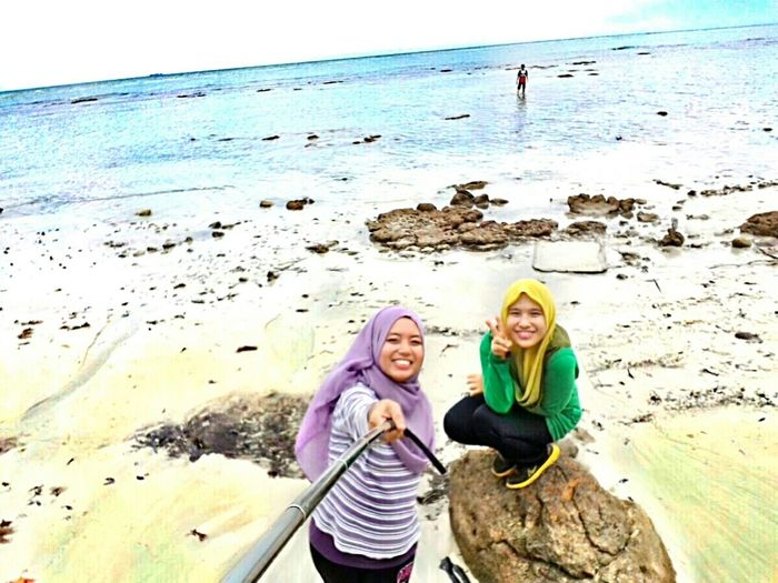 Hello World Beach TanjungTuan Portdickson Malaysia Outdooradventure Outdoorphotography Enjoying Life First Eyeem Photo Girlfriend
