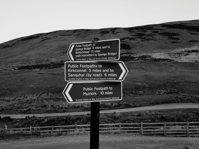 Taking Photos Monochrome _ Collection Blackandwhite Photography Taking Pictures Monochromatic Black And White Photography Beautiful View Sign Post Signs Signporn Which Way To Go? Which Way? Crossrail Crossroads Of The World Cross Roads Crossroadslife Hills And Valleys Hillscape Hikingadventures Hiking Trail Scotland Dumfries Sightseeing, Hiking_walking Dayoff Day Out Black And White Friday