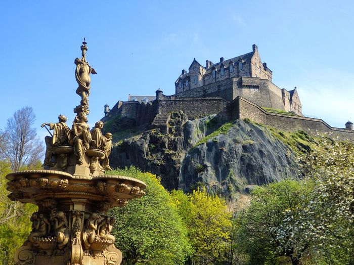 Sculpture By Edinburgh Castle Against Sky