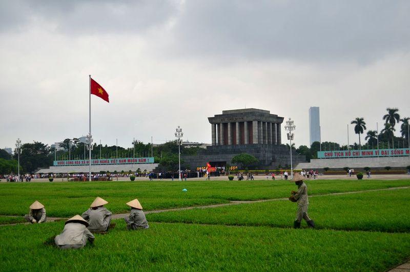 Ho Chi Minh's mausoleum Ho Chi Minh Mausoleum Ho Chi Minh Hanoi Vietnam Backpacking