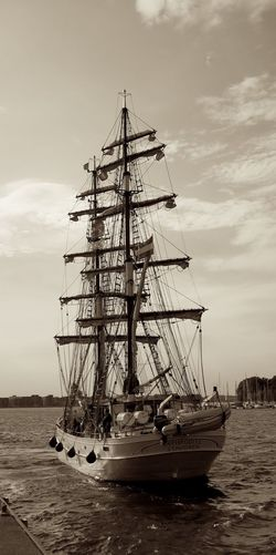 The beautiful Brigg Aphrodite! Cloud - Sky Day Mast Mode Of Transportation Nature Nautical Vessel No People Outdoors Passenger Craft Pole Sailboat Sailing Sailing Ship Sea Ship Sky Tall Ship Transportation Travel Water