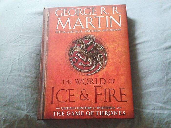 The best birthday gift ever Got Gameofthrones Georgerrmartin Books Fire Westeros  Fantasy George R. R. Martin Dragons Birthday Gift History Ice And Fire Science Fiction Scifi Reader Bookworm