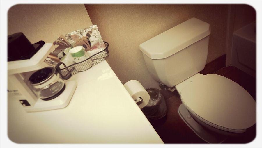 Coffee Hotel Bathroom Toilet