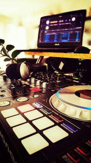 """My """"Good Vibez-Machine"""" HuaweiP9 Mixing Console Mixer Fader Pioneer Ddj-sz Music Technology Arts Culture And Entertainment Turntable Sound Recording Equipment Mixing Indoors  Recording Studio Sound Mixer Dj Close-up Musical Instrument EyeEmNewHere"""