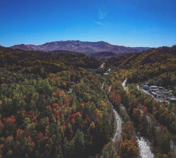 Perspectives On Nature Winding Road Djispark Beauty In Nature Autumn Djiglobal Dji Landscape Aerial View Mountain Scenics Clear Sky