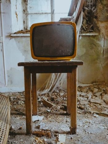 Tv Interior Design Urbex Lost Places Vintage Old TV Tower Tv Chair No People Indoors  Day Close-up