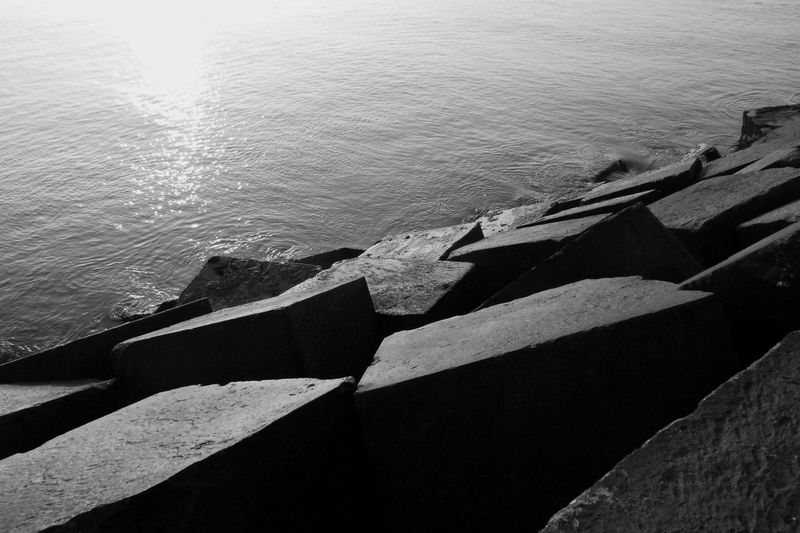 Blackandwhite Light And Shadow Water Sea Sunlight Close-up Rippled Calm Shore Rushing Mid Distance Ocean Seascape Waterfront Horizon Over Water Tranquil Scene Wave Coast Scenics