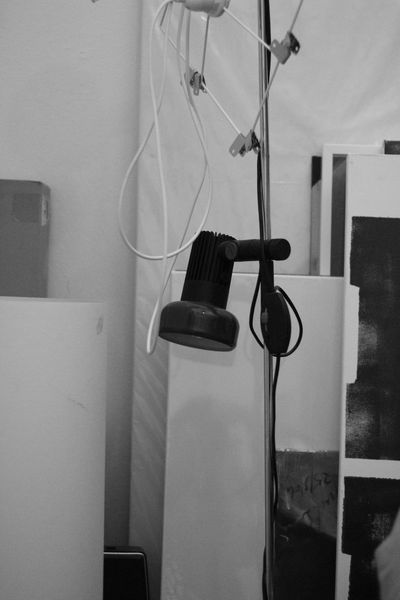 Absence Art Atelier Cable Close-up Day Domestic Room Electric Lamp Empty Lamp No People Studio