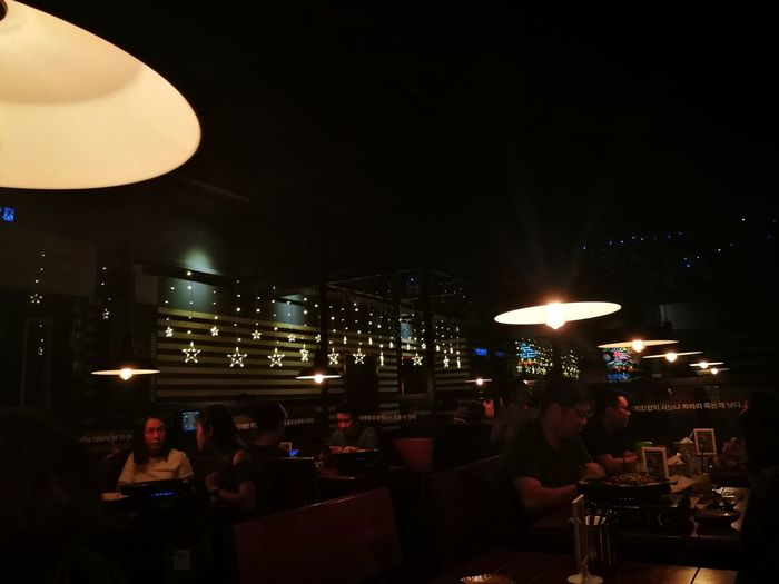 Night Nightlife Illuminated Table Indoors  Arts Culture And Entertainment Nightclub