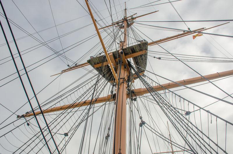 sail boat rigging Historic Mast Pole Rigging Rope Ropes Sailboat Sailing Sailing Ship Transportation Vintage