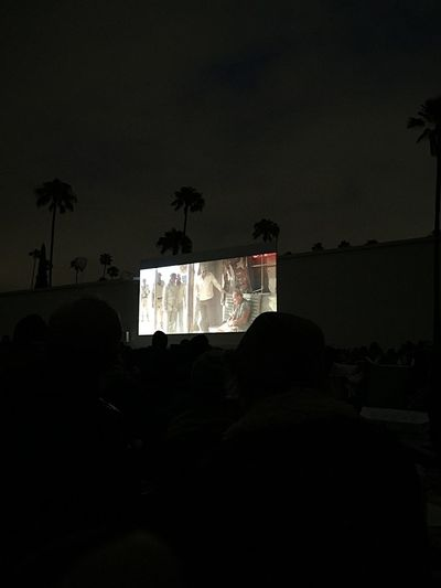 Outdoor Movie Cemetery Close Encounters Of The Third Kind Hanging Out With Friends