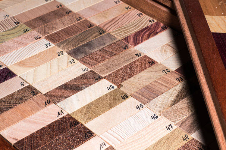 High angle view of wood