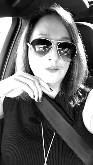 Style Sunglasses Portrait Close-up Thoughts Noregrets Blackandwhite Car Interior