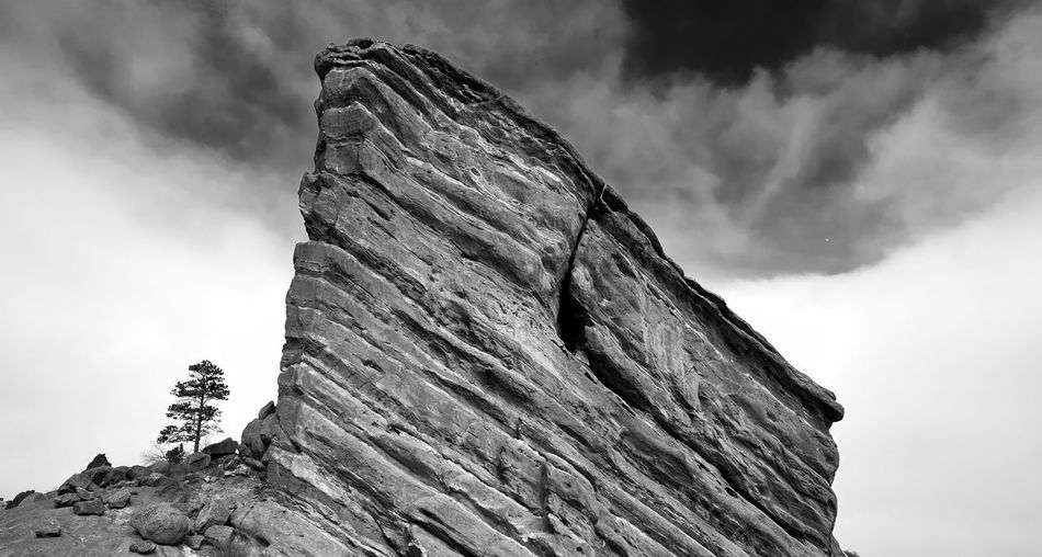 High rock Sky Beauty In Nature Travel Photography Travel Photography Winter Colorado Landscape Mountain Reimerpics Outdoors Redrocksamphitheatre Black And White Photography
