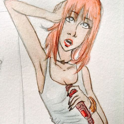 Colors Lips Watercolor Ilustration Girl Art Colorful Style Punk