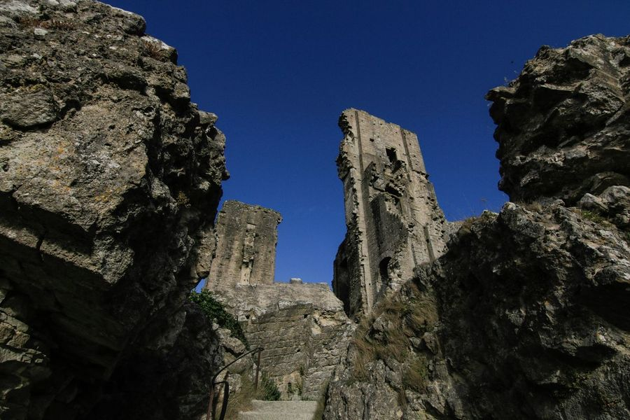 Broke into Corfe Castle after hours and had the whole place to ourselves. Naughtynaughty Corfe Castle Risky Business