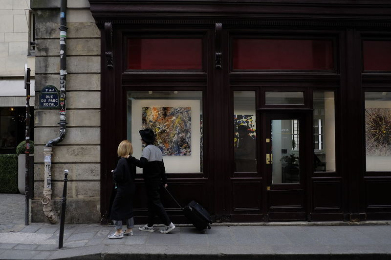 Paris Architecture Art Building Exterior Day Gallery Men Outdoors Pair People Real People Travellers Windowshopper Windowshopping