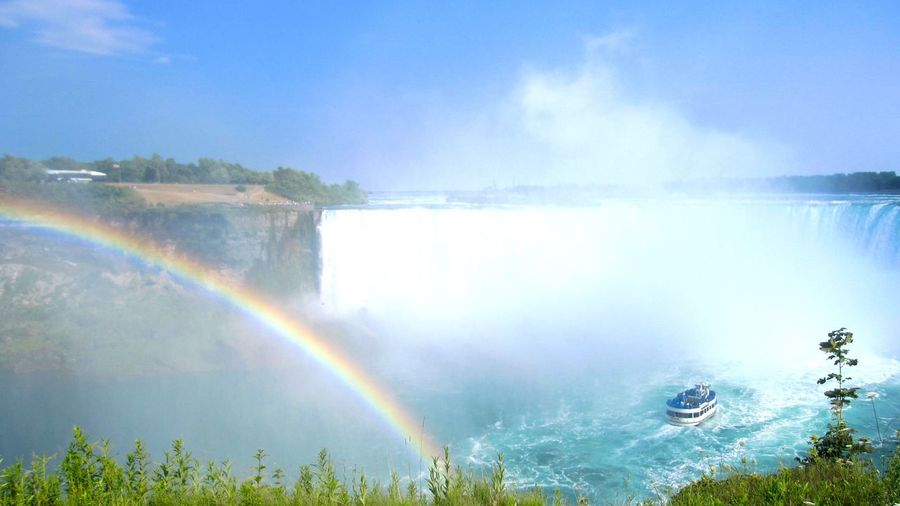 Niagara Falls Niagarafalls NiagaraFallsCanada Niagara Falls Canada Niagara Falls Ontario Niagara Niagara Falls, Ontario Niagaraparks Niagara Falls, Canada Niagara Falls Rainbow Water Nature Scenics Beauty In Nature Landscape Splashing No People EyeEmNewHere Outdoors Day Sky Waterfall Beauty In Nature Canada Rainbow