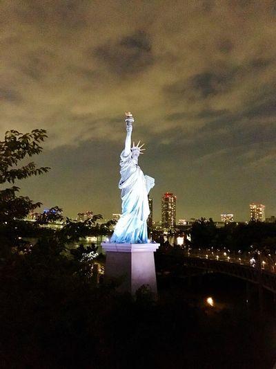 Mobilephotography Odaiba Tokyo Cloud - Sky JapanLife Statue Statue Of Liberty