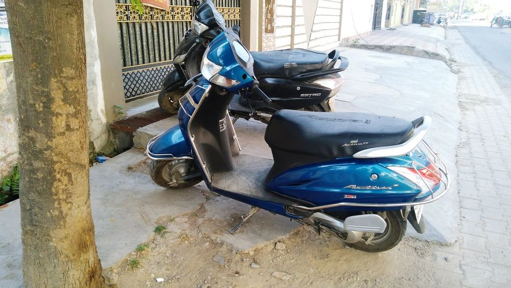 Outdoors Land Vehicle Day Scooty Honda Activa Random Blue India EyeEmNewHere